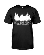 Hiking-Bears love people Classic T-Shirt thumbnail