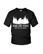 Hiking-Bears love people Youth T-Shirt thumbnail