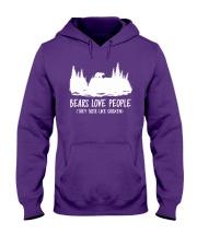 Hiking-Bears love people Hooded Sweatshirt front