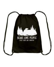 Hiking-Bears love people Drawstring Bag thumbnail
