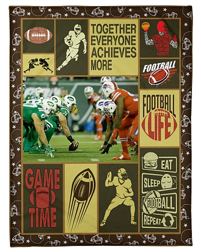 Football Together Everyone Achieves Graphic Design