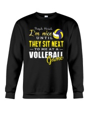 People Think I Am A Volleyball  Crewneck Sweatshirt thumbnail