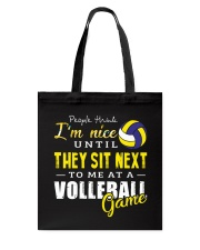 People Think I Am A Volleyball  Tote Bag thumbnail
