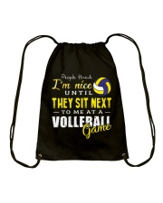 People Think I Am A Volleyball  Drawstring Bag tile