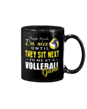 People Think I Am A Volleyball  Mug tile