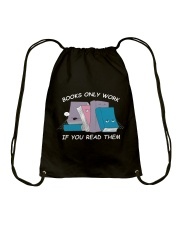 BOOK ONLY WORK - IF YOU READ THEM Drawstring Bag thumbnail