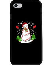Baseball Christmas Snowman Phone Case tile