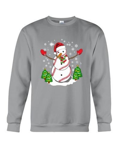 Baseball Christmas Snowman