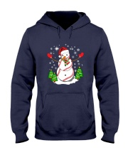 Baseball Christmas Snowman Hooded Sweatshirt thumbnail