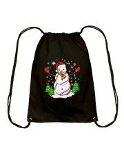 Baseball Christmas Snowman Drawstring Bag tile