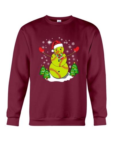 Softball Christmas Snowman