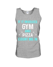 Gym And Pizza Unisex Tank front