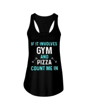 Gym And Pizza Ladies Flowy Tank thumbnail