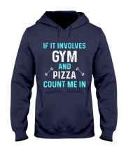 Gym And Pizza Hooded Sweatshirt thumbnail