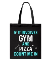 Gym And Pizza Tote Bag thumbnail