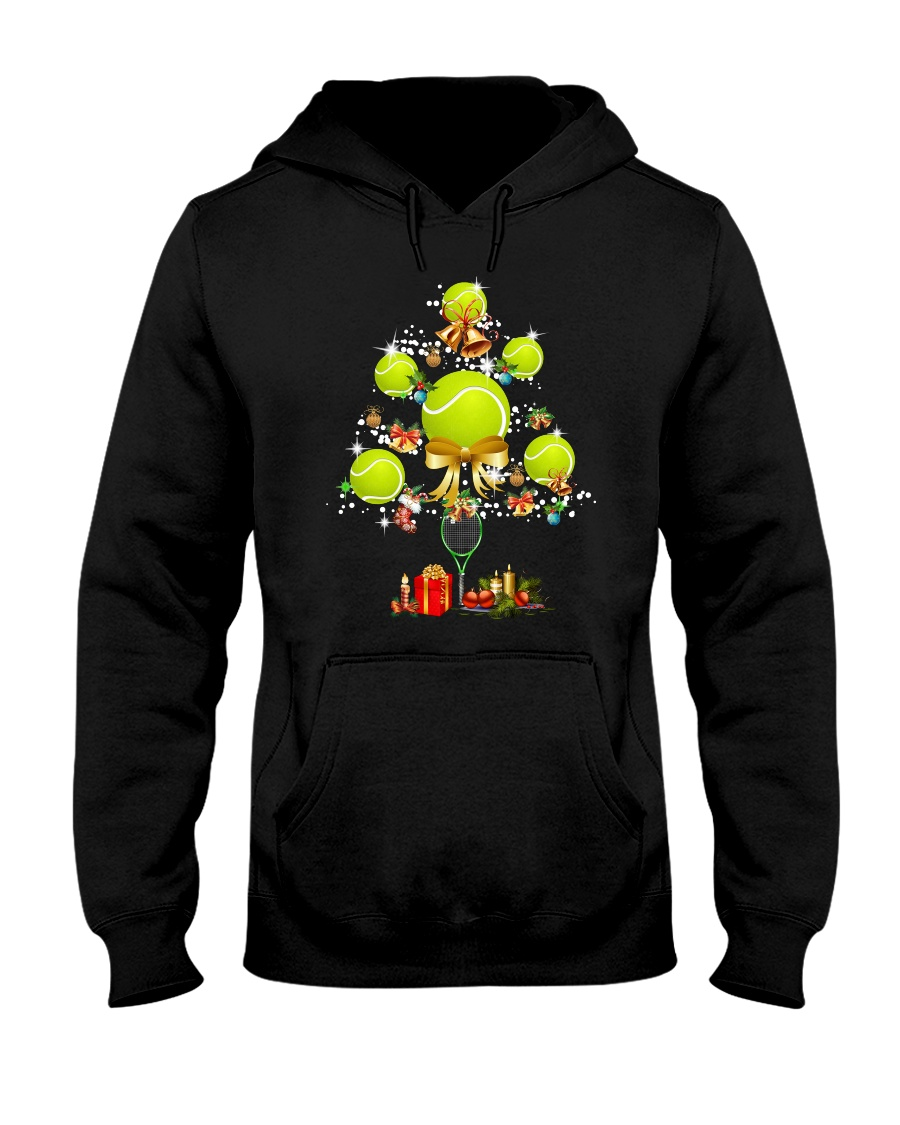 Tennis Tree Xmas Hooded Sweatshirt