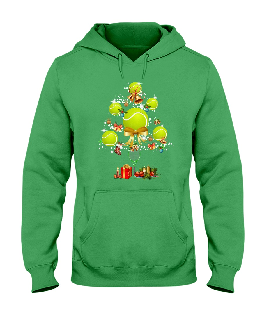Tennis Tree Xmas Hooded Sweatshirt