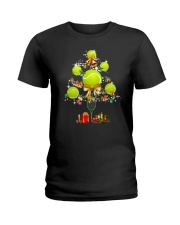 Tennis Tree Xmas Ladies T-Shirt thumbnail
