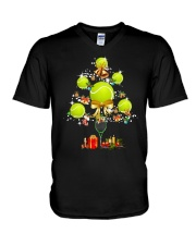 Tennis Tree Xmas V-Neck T-Shirt thumbnail