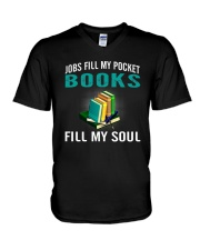 JOBS FILL MY POCKET BOOK FILLS MY SOUL V-Neck T-Shirt thumbnail