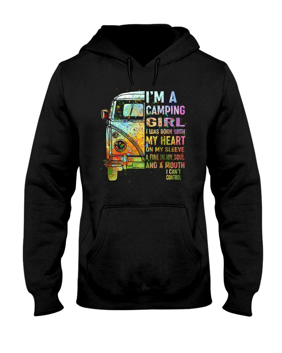 I'm A Camping Girl Hooded Sweatshirt