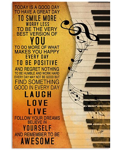 Piano Today Is A Good Day Poster