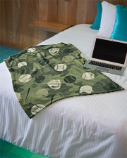 "Baseball Camou Small Fleece Blanket - 30"" x 40"" aos-coral-fleece-blanket-30x40-lifestyle-front-10"