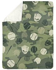 "Baseball Camou Large Sherpa Fleece Blanket - 60"" x 80"" thumbnail"