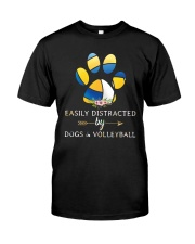 Easily Distracted By Dogs And Volleyball  Classic T-Shirt thumbnail