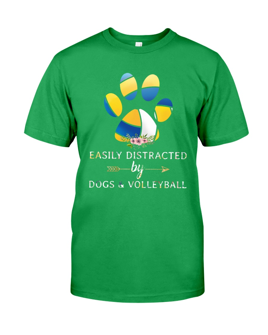 Easily Distracted By Dogs And Volleyball  Classic T-Shirt