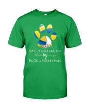 Easily Distracted By Dogs And Volleyball  Classic T-Shirt front