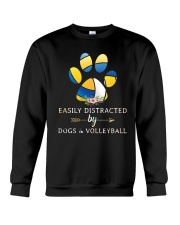 Easily Distracted By Dogs And Volleyball  Crewneck Sweatshirt thumbnail
