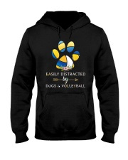 Easily Distracted By Dogs And Volleyball  Hooded Sweatshirt thumbnail
