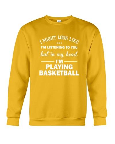 I'm playing basketball