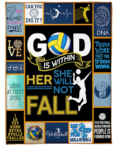 Volleyball Funny God Is Within Graphic Design
