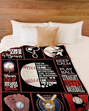"Baseball Funny Never Give Up Graphic Design Large Fleece Blanket - 60"" x 80"" aos-coral-fleece-blanket-60x80-lifestyle-front-02"