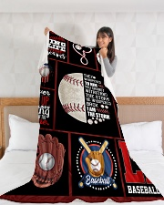 "Baseball Funny Never Give Up Graphic Design Large Fleece Blanket - 60"" x 80"" aos-coral-fleece-blanket-60x80-lifestyle-front-11"