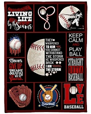 "Baseball Funny Never Give Up Graphic Design Large Fleece Blanket - 60"" x 80"" front"