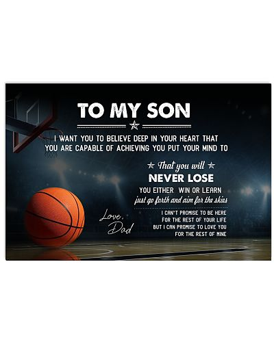 Basketball Son-Dad I Want You Believe Poster