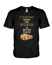 Cookies Make The World A Better Place V-Neck T-Shirt thumbnail