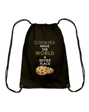 Cookies Make The World A Better Place Drawstring Bag thumbnail