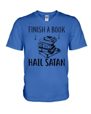 Finish A Book V-Neck T-Shirt thumbnail