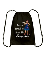 Fresh Batch of shut the fucupcakes Drawstring Bag thumbnail