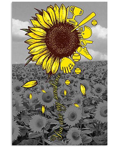 Softball You Are My Sunshine Poster
