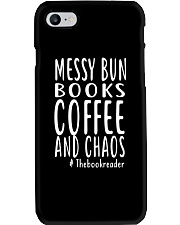 BOOK - Books coffee and chaos Phone Case thumbnail