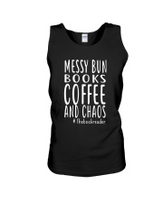 BOOK - Books coffee and chaos Unisex Tank thumbnail
