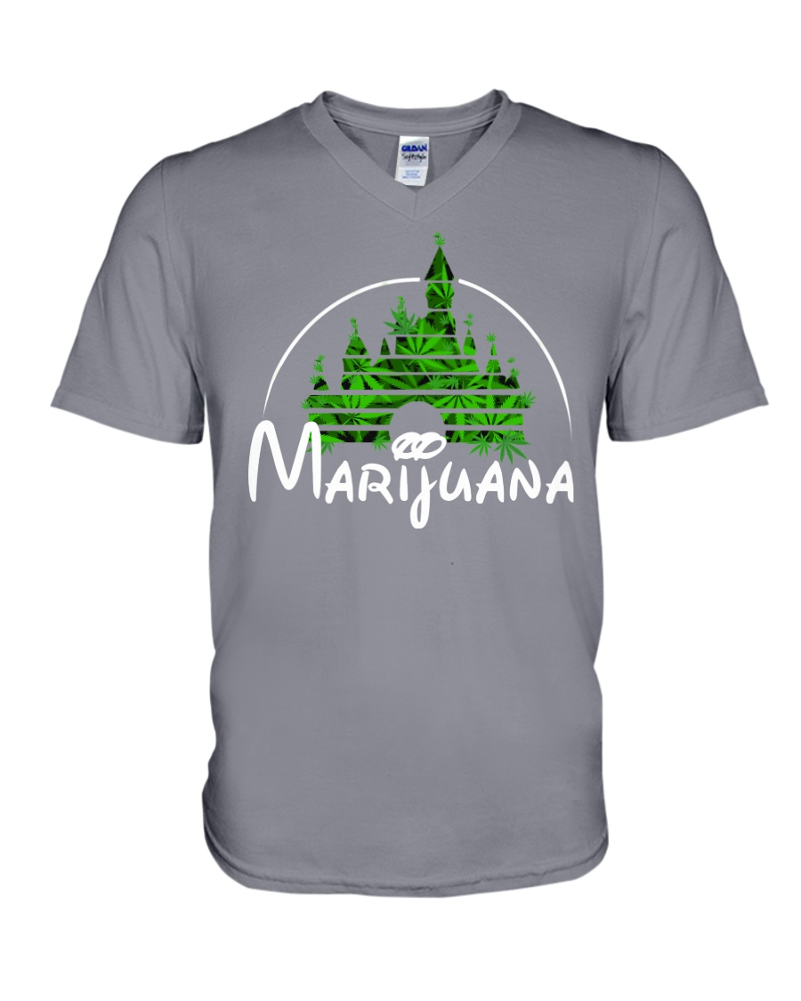 Marijuana V-Neck T-Shirt