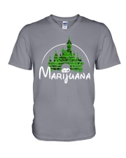 Marijuana V-Neck T-Shirt front