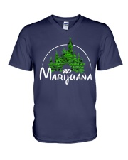 Marijuana V-Neck T-Shirt thumbnail