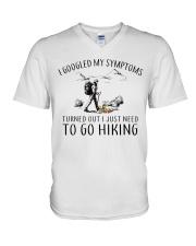 Just Need To Go Hiking V-Neck T-Shirt thumbnail